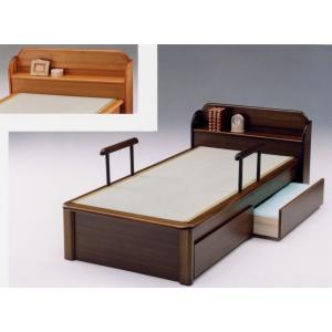 日本製宮付 手摺り付の畳ベッド(セミダブル)ベッド ベット|himalaya