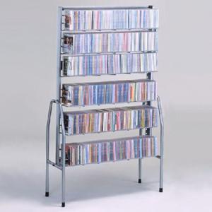 本棚とCDラックディスクスタンド6段 単独型|himalaya