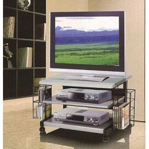 CD/DVDラック付きキャスター付きスチールテレビ台65L|himalaya