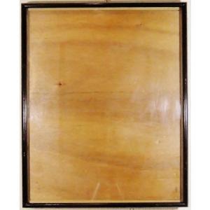 額縁 外寸37x44.6x2.3cm 内寸 33.6x41.2cm 木製 ガラス付き 掘出し市 Ff17|himalj