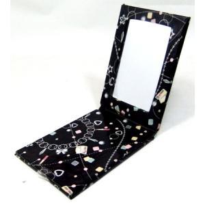 手鏡 8x11x1.2cm 未使用 掘出し雑貨Fi07|himalj