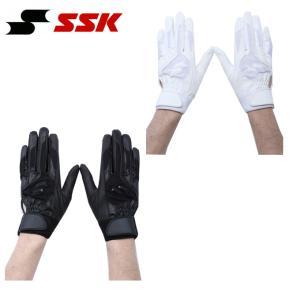 エスエスケイ SSK  野球 両手用バッティンググローブ メンズ  レディース ジュニア 高校野球対応シングルバンド手袋 BG3004W bb|himaraya-bb