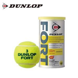 ダンロップ(DUNLOP) ダンロップ フォート 2球入り (DUNLOP FORT) DFDYL2DOZ 硬式テニスボール ITF JTA 公認球