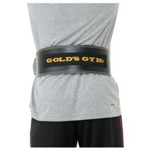 ゴールドジム GOLD'SGYM パワーベルト トレーニング器具 ブラックレザーベルト パッド付 G3367 himaraya 02