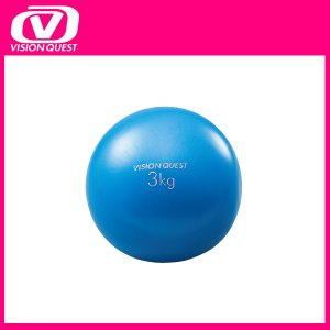 ビジョンクエスト(VISION QUEST) ウェルネス トレーニング器具 ウエイトボール 3kg 筋トレ フィットネス VQWEN014