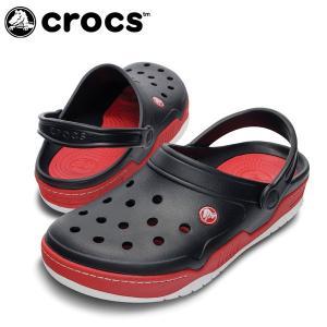 クロックス サンダル ユニセックス フロント コート クロッグ BK/RD 14300  crocs|himaraya