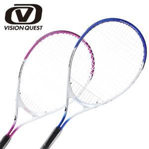 硬式テニスラケット 張り上げ済み ジュニア アルミ×アルミ JR25インチ  14VQTJR25 ビジョンクエスト VISION QUEST