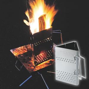 上昇気流で生み出される火力で、炭熾しの不安をゼロに。 木炭を入れて着火剤の上に置くだけで、誰でも簡単...