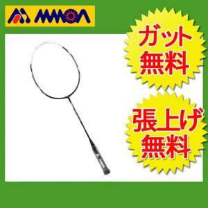 モア MMOA バドミントンラケット 未張り上げ エアパワー2200 MBR-2200WHBK himaraya