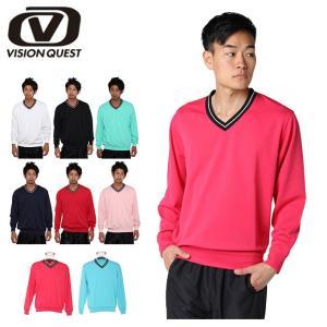 テニスウェア バドミントンウェア トレーナー メンズ Vトレーナー VQ530315D01 ビジョンクエスト VISION QUEST|himaraya