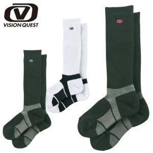 ビジョンクエスト VISION QUEST  バレーボール ソックス レディース ハイパフォーマンスロング ワンポイント VQ570508D04|himaraya