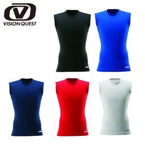 ビジョンクエスト VISION QUEST アンダーシャツ アンダーウェア メンズ ノースリーブ CFD クルーS/L VQ440301E03 コンプレッション インナー ウェア|himaraya
