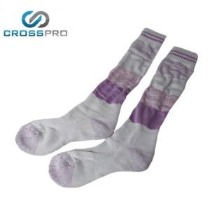 クロスプロ CROSS PRO トレッキングソックス レディース パッチワーククルー Z678109|himaraya