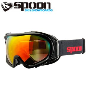 スプーン SPOON ZOW S.BK/OGRD SDP-674-1 スキー スノーボード 眼鏡対応ゴーグル メンズ レディース 2016年 ウィンタースノーゴーグル|himaraya