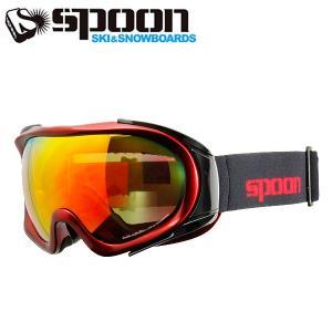 スプーン SPOON ZOW M.RD/OGRD SDP-674-3 スキー スノーボード ゴーグル メンズ レディース 2016年 ウィンタースノーゴーグル|himaraya