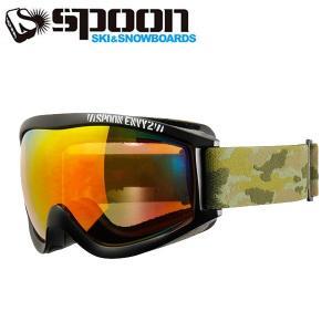 スプーン SPOON ENVY2 MAT.BK SDP-661-1 スキー スノーボード ゴーグル メンズ レディース 2016年 ウィンタースノーゴーグル|himaraya