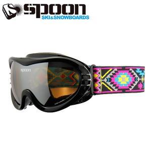 スプーン SPOON SMALL GENIUS S.BK SBP-649-1 スキー スノーボード 眼鏡対応ゴーグル ジュニア 2016年|himaraya