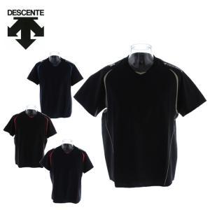 デサント DESCENTE バレーボール ウォームアップシャツ メンズ 半袖 ピステシャツ DOR-...