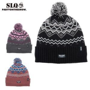 ニット帽 メンズ KNIT CAP ニットキャップ 6SL130401-09 エスエルキュー SLQ スキー スノーボード|himaraya