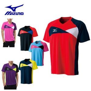 ミズノ MIZUNO 卓球 ウェア Tシャツ メンズ レディース ドライサイエンス ゲームシャツ 卓球 82JA5500 【M16SS】|himaraya