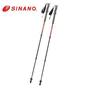 シナノ SINANO トレッキング ステッキ I字型 2本組 VIPトレイル120 16S-09RD|himaraya