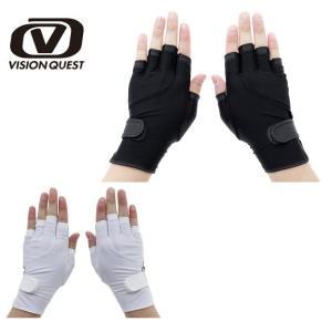 ビジョンクエスト VISION QUEST テニス 手袋 メンズ・レディース UPF50+ハーフグローブ VQ530301F02