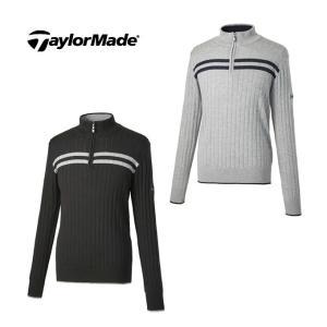 テーラーメイド TaylorMade ゴルフ メンズ 長袖 ハーフジップセーター CCK84|himaraya