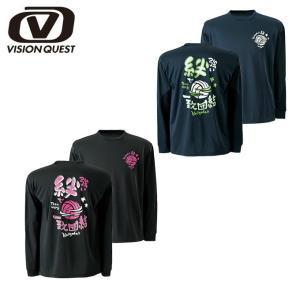 ビジョンクエスト VISION QUEST バレーボール Tシャツ メンズ レディース 長袖バレー文字Tシャツ VQ570514F01|himaraya