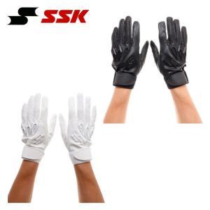 エスエスケイ SSK 野球 バッティンググローブ 両手用 メンズ プロエッジ高校野球対応手袋 EBG3000W|himaraya