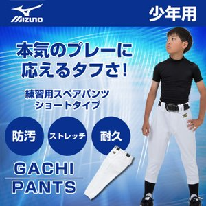 ミズノ MIZUNO 野球 ウェア 練習着 ユニフォームパンツ 練習用 ユニフォーム パンツ ショート ジュニア 12JD6F8401|himaraya