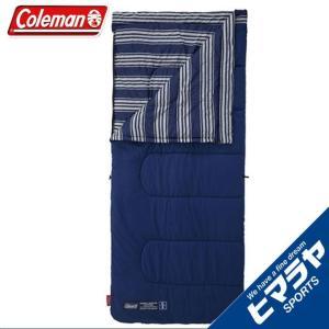コールマン 封筒型シュラフ フリースフットEZキャリースリーピングバッグ C5 2000031098 ネイビーボーダーシリーズ Coleman|himaraya
