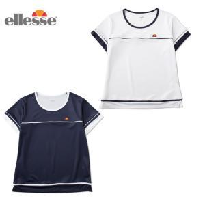 エレッセ テニスウェア Tシャツ 半袖 レディース ゲームシャツ EW07121 ellesse バドミントンウェア