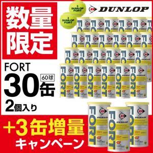 ダンロップ DUNLOP 硬式テニスボール フォート FORT 2球×1箱 30缶+3缶増量=33缶