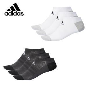 アディダス 3足組ソックス メッシュ 3P アンクルソックス DMK54 adidas|himaraya