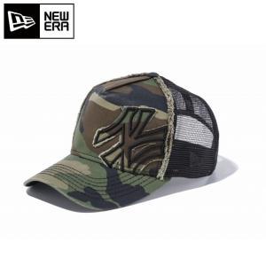 ニューエラ NEW ERA ウィンター アクセサリー 帽子 キャップ 9FORTY D-Frame Trucker Battalion ニューヨーク・ヤンキース 11120284|himaraya