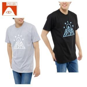 ポーラー POLER  Tシャツ 半袖 メンズ SHORT SV SS-MOUNTAINS TEE|himaraya