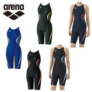 アリーナ arena FINA承認モデル 競泳水着 ガールズ ジュニア ハーフスパッツ ARN-7050WJ スイムウェア 水着|himaraya