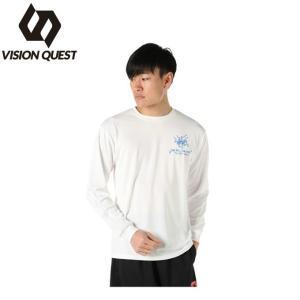 ビジョンクエスト VISION QUEST  バレーボールウェア  メンズ レディース 長袖バレー文字Tシャツ  VQ570514G03|himaraya