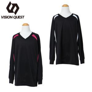 ビジョンクエスト VISION QUEST  バレーボール Tシャツ ジュニア 長袖ワンポイントプラシャツ VQ570514G04|himaraya