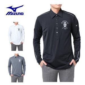 ミズノ MIZUNO ゴルフウェア ポロシャツ メンズ 裏起毛ストレッチ長袖ポロ 52JA7551|himaraya