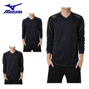 ミズノ MIZUNO  バレーボール メンズ 長袖ワンポイントTシャツ V2JA7902|himaraya