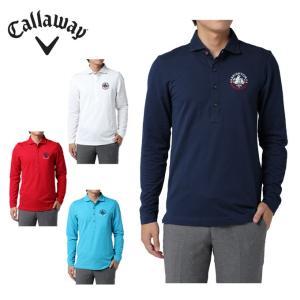 キャロウェイ Callaway  ゴルフウェア ポロシャツ メンズ 鹿の子長袖ポロ 241-7256503