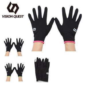 ランニング 手袋 メンズ レディース 17FW RUNグローブ タッチ VQ560505G01 ビジョンクエスト VISION QUEST