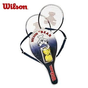 ウィルソン 硬式テニスラケット 張り上げ済み ジュニア  ベアーラケットセット BEAR RACKET SET WRT6164E Wilson メンズ レディース|himaraya