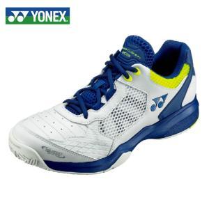 ヨネックス テニスシューズ オールコート メンズ レディース パワークッション203 SHT203-100 YONEX ホワイト/ネイビー|himaraya