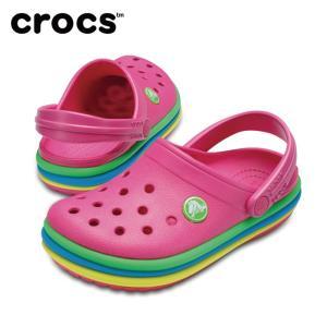 クロックス クロックバンド レインボー バンド クロッグ キッズ 205205 crocs himaraya
