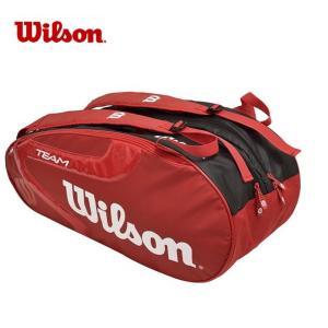 ウィルソン テニス バドミントン ラケットバッグ 9本用 TEAM JP2.0 9 PACK RDBK チーム パック WRZ621806 Wilson メンズ レディース