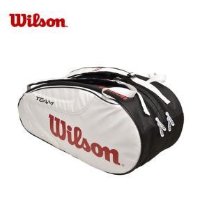 ウィルソン テニス バドミントン ラケットバッグ 6本用 TEAM JP2.0 9 PACK WHBK チーム パック WRZ624806 Wilson メンズ レディース|himaraya