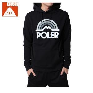ポーラー POLER  スキー・スノーボード パーカー メンズ MT RAINBOW HOODIE マウンテン レインボー フーディ 21260001-BLK|himaraya