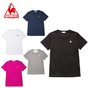 ルコック le coq sportif Tシャツ 半袖 レディース ワンポイント半袖機能Tシャツ QMWLJA30ZZ